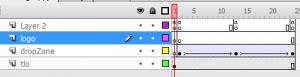 zrzut ekranu z klatkami kluczowymi