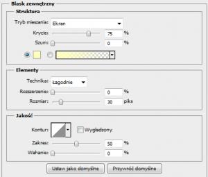 zastosowanie filtru blask zewnętrzny