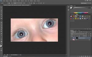 redukcja czerwonych oczu zakończona