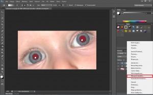 efekt czerwonych oczu