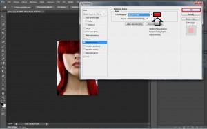 czerwone włosy photoshop