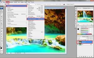 Obraz-> dopasowania-> zmniejsz nasycenie